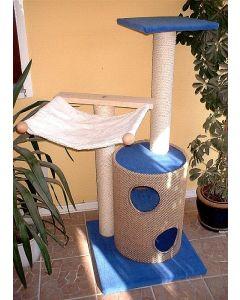 Kratzbaum Kitty macht Katzen mit 2er-Kratztonne, Hängematte und Aussichtsplattform viel Freude