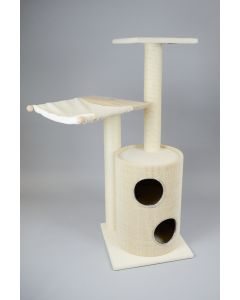 Kratzbaum KITTY mit Tonne und kleiner Bodenplatte