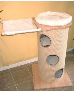Sisalkratztonne für große Katzen - bauen mit System und 52cm Durchmesser