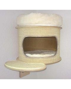 Katzen Wandhöhle mit Sisal - mit stabilem Befestigungsmaterial inklusive